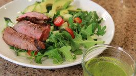 Cinco De Mayo Mexican Steak Salad With Cilantro Lime Dressing