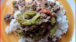Beef  Ampalaya - Filipino Beef with Bitter Melon
