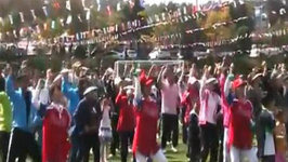 Koreans and Foreigners Dancing to Gangnam Style at Pyeongtaek University  Life in Korea