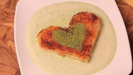 Valentines Day Green Tea Dessert - Matcha Toast