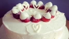 TBT Strawberries and Cream Cake