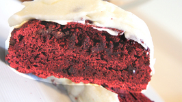 Red Velvet Biscotti With Cream Cheese Frosting