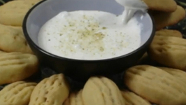 Walnut Biscuits With Marshmallow Dip