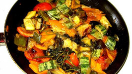 Eggplant And Zucchini Ratatouille With Butter