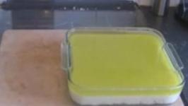 Chocolate Lime Jelly Slice
