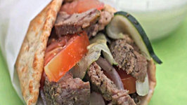 Easy Greek Lamb Wraps