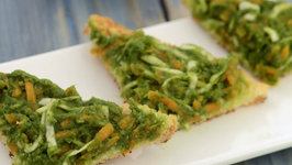 Carrot and Cabbage High Fibre Chutney Open Toast by Tarla Dalal