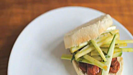 Crispy Chorizo and Minty Cucumber Sandwich