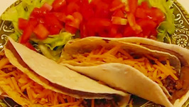 Double-Layer Beef and Bean Tacos
