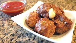 Cheese Stuffed Meatballs a la Pizzaiola
