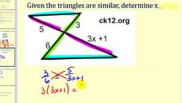 Solving for Unknown Values Using the Properties of Similar Triangles