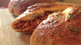 Chicken Parmesan Stuffed Bread Rolls
