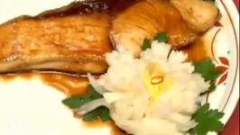 Grilled Yellow Tail Teriyaki & Pickled Turnip