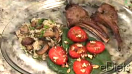 Rosemary Lamb with Spinach and Strawberry Salad