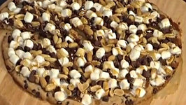 How to Make Rocky Road Cookie Pizza - An Easy Dessert