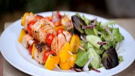 Lime & Coriander Salmon Kebabs  Bank Holiday BBQs  Schwartz Cooking Club