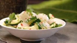 Lychee Cucumber Salad