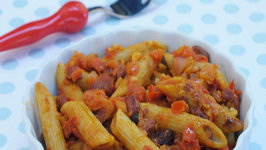 Curried Beans Pasta (Fibre and Protein Rich Recipe) by Tarla Dalal