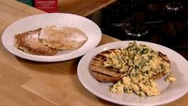 Nadia Sawalha's Apple Pancakes and Herby Scrambled Eggs