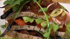 Seared Ahi Tuna with Avocado and Ponzu Vinaigrette