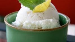 Lemon Mint Ricotta Gelato
