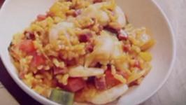 Prawn and Chorizo Paella