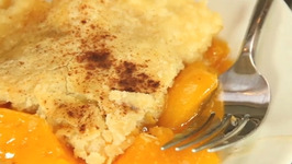 Sugarless Peach Cobbler