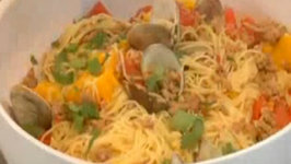 Clam and Chorizo Angel Hair Pasta