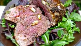Easy Dinner Recipes - Roast Lamb With Garlic And Rosemary