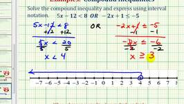 Ex:  Solve a Compound Inequality (All Real Numbers Solution)