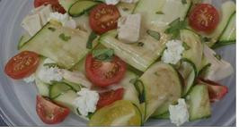 Zucchini Salad with Tomato and Basil