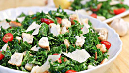 Kale Salad with Garlic Croutons: Bits & Pieces Season 1, Ep. 5