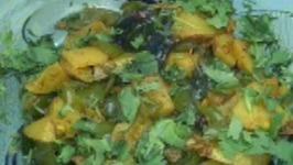 Spicy Aloo Shimla Mirch