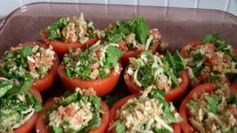 Couscous Stuffed Cherry Tomatoes