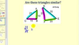 Similar Triangles Using Side-Side-Side and Side-Angle-Side
