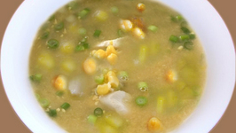 Chicken, Sweet Corn and Chickpea Soup