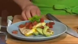 Breakfast Quesadilla with Fried Eggs