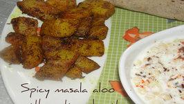 Spicy Masala Aloo With Roti And Boondi Raita