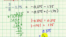 Ex:  Subtraction Involving a Fraction and Decimal