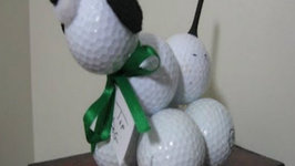 Golf Ball Dog Craft Easy Fun and Perfect for Father's Day!