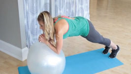 10 Min Exercise Ball Ab Workout