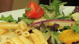 Reggiano Cheese Pasta And Fresh Green Salad