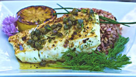 Grilled Halibut with Lemon Caper sauce Island Grillstone