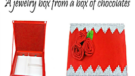 How to Make a Jewellery Gift Box with Ribbon Roses Out of a Box of Chocolates - Recycling