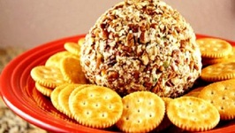 Healthier Pineapple Cheese Ball