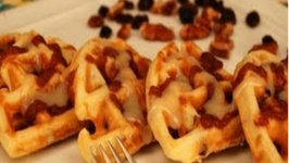 How to Make Cinn-a-Bun Pecan Raisin Waffles