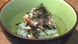 Salmon and Rice with Green Tea - Yaki Onigiri Ochazuke