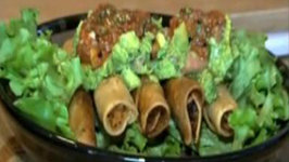 Part 1: Crispy Chicken Taquitos with Guacamole and Oven Roasted Salsa