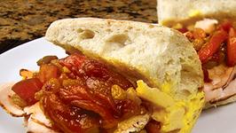 Turkey Sandwich with Pepper Chutney