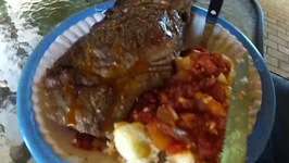 Bloodbeasts Pap en Sous & Braai (Porridge and Sauce/Gravy w/ Barbeque)